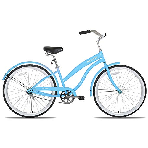 - Hiland Women's Beach Cruiser Bike with Wide Seat, 26'' Inch Cruiser Bicycle for Women & Girls,Urban Lady Comfort Commuter Bikes Blue