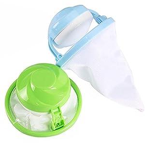 Washing Machine Supplies Household Hair Removal Device Floating Washing Bags Hair Removal Device Hair Ball Hairbrush Filter(Random Color) (Muticolor)