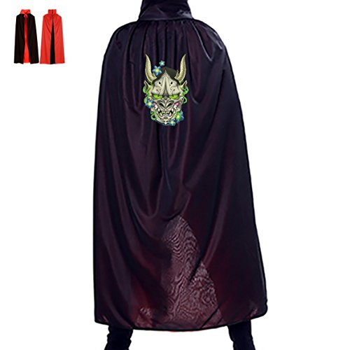 Mask At Party City (Evil Clown Halloween Cloak Adult Costumes Japanese Evil Spirits Mask Black Reversible)