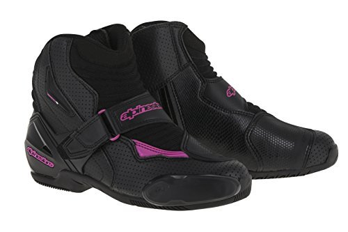 Alpinestars Stella SMX-1R Vented Womens Boots Black/Pink 37 EUR Smx Plus Vented Racing Boots