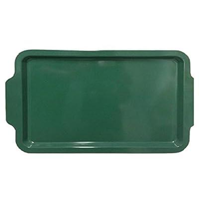 Intriom 2 Piece Ultra Nonstick Cookie Sheet Bakeware w/ Green Silicone Handles