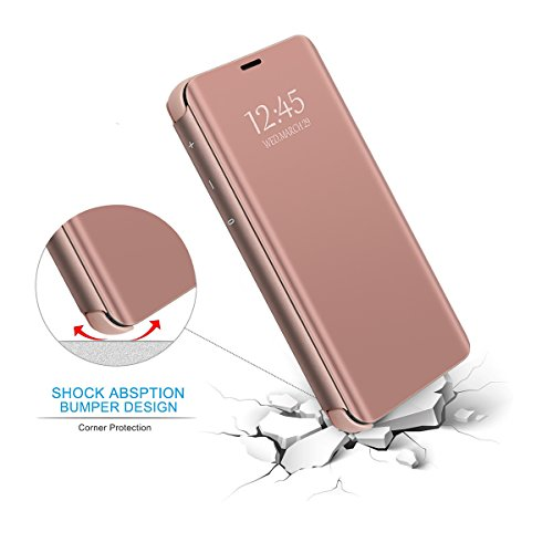 Y6 Case Huawei Mince Silicone Rose Rayures Housse Ultra tui Bumper 2018 Bling Huawei Cover Y6 Nior 2018 Matte Protection Choc Miroir Rsistant Anti Souple Anti Coque PC Liquid RwdUxqU