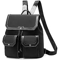 I Ihayner Fashion Nylon Purse Drawstring Lightweight Shoulder Backpack (Black-a)