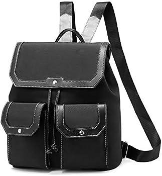 I Ihayner Fashion Nylon Purse Drawstring Lightweight Shoulder Backpack