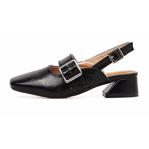 Sandali casual neri con punta rotonda per donna 6XDzG7M