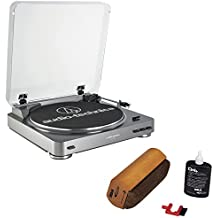 Audio-Technica AT-LP60 Turntable With RCA Turntable Cleaning System