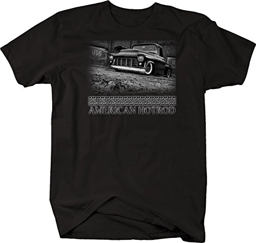 Bold Imprints Retro - American Hotrod Chevy Lowered Classic Truck 1950's Tshirt - XLarge