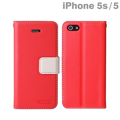 Solozen Hit iPhone 5 Diary Case (Hot Pink/White)