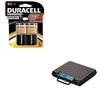 KITDURMN16RT4ZSBWGP100 - Value Kit - Salter Brecknell Portable Electronic Utility Bench Scale (SBWGP100) and Duracell CopperTop Alkaline Batteries with Duralock Power Preserve Technology (DURMN16RT4Z)