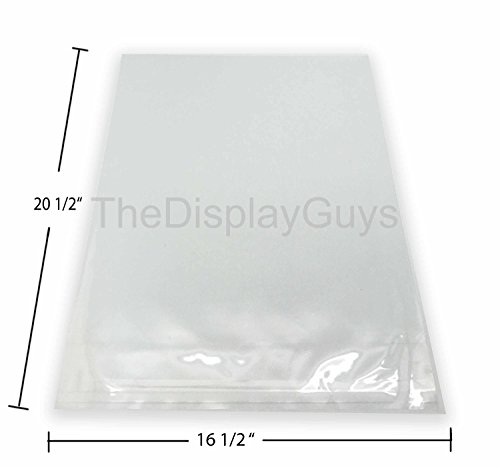 The Display Guys, 100 Pcs Acid-Free 16.5''x20.5'' Clear Plastic Bags for 16''x20'' Art Picture Photo Framing Mats by TheDisplayGuys