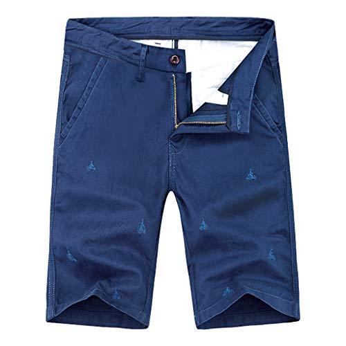 Men's Comfort Cargo Flat Front Short Multi-Pocket Sports Fitness Work Pants ()