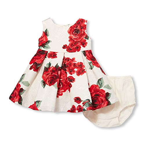 The Children's Place Baby Girls Special Occasion Dress, Pearly Whites, 12-18MOS