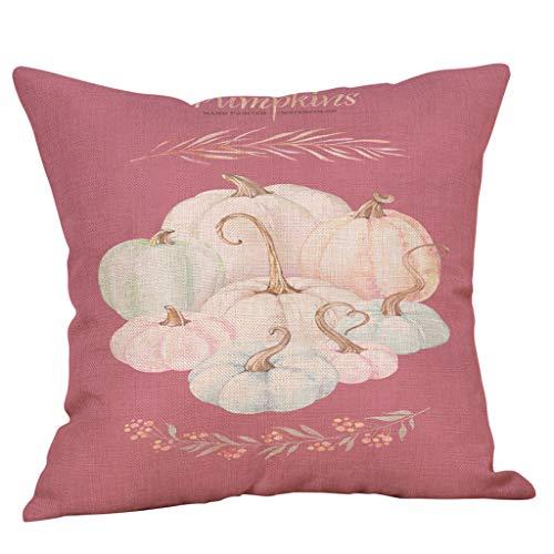 MoonHome Halloween Pumpkin Floral Print Pillow Case Decorative Pillow Case Sofa Waist Throwing Pad Set 18 x 18 Inch