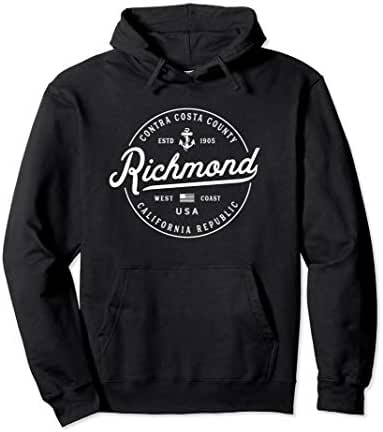 NAUTICAL Anchor Richmond California Travel Vacation Pullover Hoodie