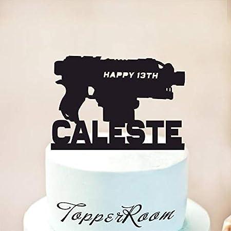 Blaster Decoración para tarta, pistolas automáticas, decoración ...