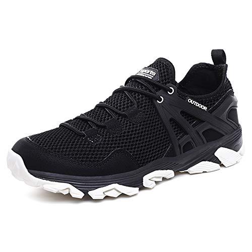 ANGERT& Mesh Sneakers Men Summer Breathable Shoes Non-Slip Outdoor Walking Casual Shoes Men Footwear Zapatillas Hombre Black 12