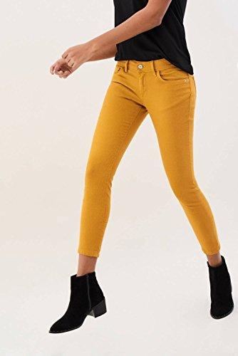 Colette Cremallera Capri Tela De Amarillo Con Pantalones Salsa ZqpWgwnvg