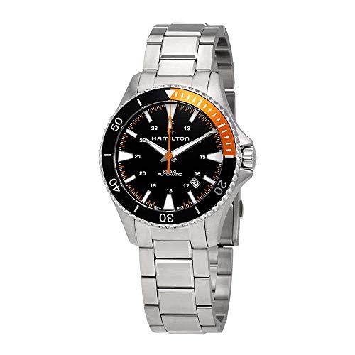 Hamilton Khaki Navy Black Dial Stainless Steel Men's Watch H82305131