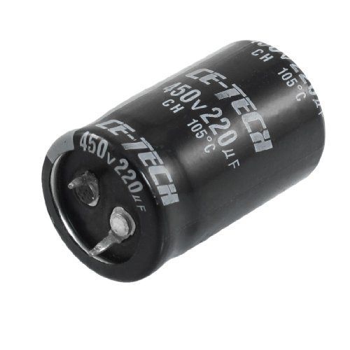 Uxcell a12122700ux0146 450V 220uF 40 mm x 25 mm Cylindrical Aluminum Electrolytic Capacitor 450v Electrolytic Capacitor