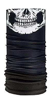 Sub Zero Seamless Fleece Face Mask & Neck Warmer Combo by Hoo-rag® - Great For Skiing, Ice Skating, Ice Hockey, Sledding, Ice Fishing, Snowboarding & Snowmobiling - Made of 100% Moisture Wick Polyester Microfiber