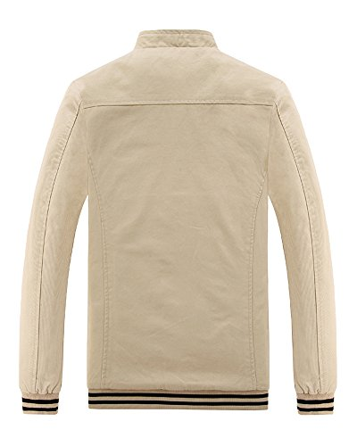 Cappotto Jacket Giacca A Sottile Cachi Trench Giacche Uomo Lunga Manica Casual Outwear dRaFdx