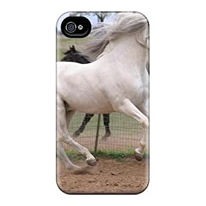 Excellent Design Running Along With The Wind Phone Case For Iphone 4/4s Premium Tpu Case