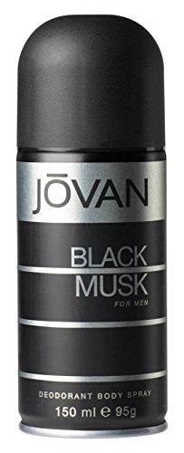 Jovan Black Musk Deodorant Spray 5.1oz (Jovan Black Musk Perfume)