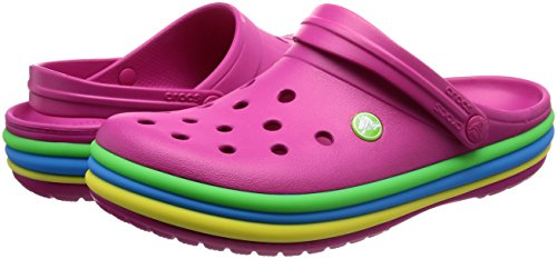 Pink Crocband Candy Clogs Rainbow Rosa Crocs Confetto Band 5XqZSxw