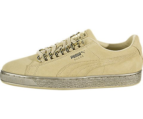 PUMA Suede Classic Sneaker, Reed Yellow-Metallic Gold, 11.5 M - Suede Metallic Platforms