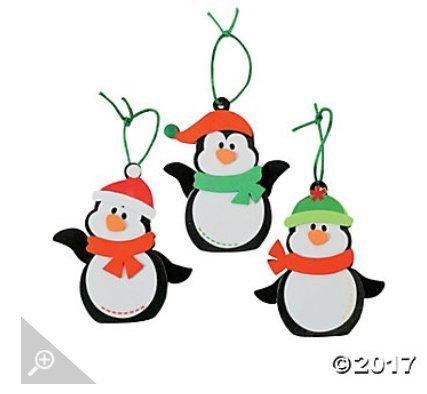 Penguin Craft Kit - 12- Christmas Penguin Ornament Craft Kit - Christmas Craft Kits