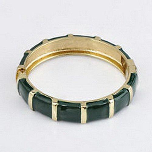 [Scott ALlah Bracelets - The Retro Jewelry Band Bracelet Bangle Green Crystal Shining Alloy Retro Shell Wedding Costume] (The Shining Couple Costume)