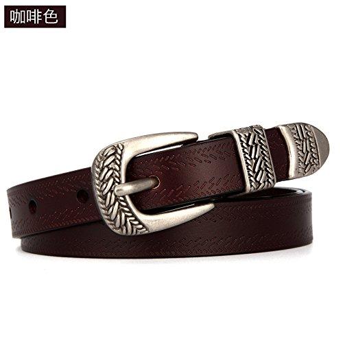 YANGFEIFEI-YD Cinto de damas bellas y simple correa Jeans ornamentales 86fd6ff15b3