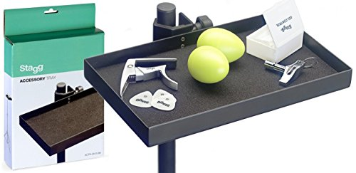 STAGG ACTR-2515 BK Accessory Tray with Clamp for Stand by Stagg