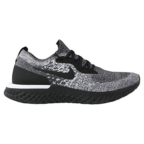 Nike Women's Epic React Flyknit Running Shoes (7.5, Black/Black/White)