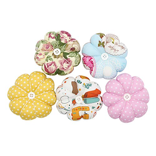 Black Needlework Style Pumpkin Fabric Coated Pincushions for Sewing with Wristband Cute Wrist Pin Cushion for Daily Needlework