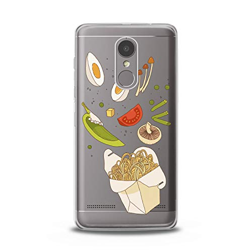 Lex Altern TPU Case for Lenovo Phone K8 Note K6 Note 2017 K5 Plus Z5 Fresh Lunchbox Lightweight Pasta Slim fit Lady Print Cover Eggs Clear Soft Desig Pepper Flexible Smooth Beans Gift Food Woman]()