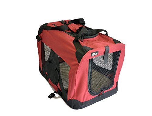 topPets Portable Soft Pet Carrier - Small: 20'x14'x14' - Maroon Red