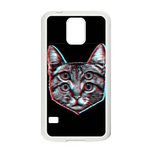 Samsung Galaxy S5 Cell Phone Case White 3D Cat Lbnrt