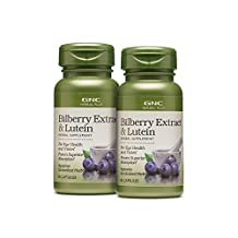 GNC Herbal Plus Bilberry Extract Lutein 2 Pack