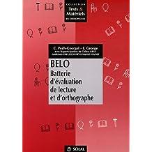 belo: batterie d'Évaluation de lecture et d'orthographe