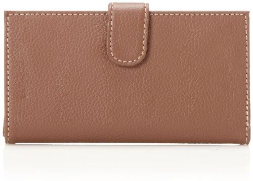 Mundi  Rio Leather Checkbook Cover Wallet,Brown,one size - Mundi Brown Handbag