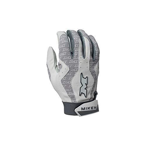 Miken Sports MBGL18-WHT-02 Batting Gloves Medium - Comfort & Performance, White