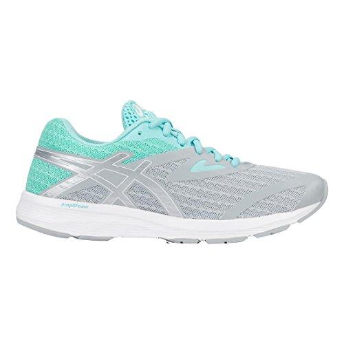 ASICS Women's AMPLICA Running Shoe Mid Grey/Silver/Aruba Blue 7.5 (S)