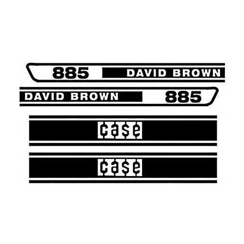 - DB885 Hood Decal Set Made for Case - David Brown Tractor 885