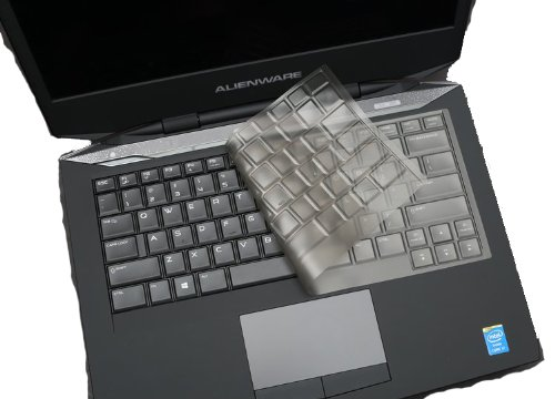 BingoBuy Clear Transparent Non-toxic Ultra Thin Keyboard Protector Cover Skin for Dell Alienware 14 (2013 version), 13 (2014 version) Gaming Laptop (if your enter key looks like 7, our skin cant