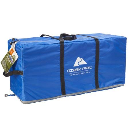 Roomy and Comfortable Ozark Trail Flat Creek 16-Person Family Cabin Tent,3 Rooms with Separate Doors for Easy Access,Ideal for a Family Camp Out with The Kiddos or Weekend Get Away