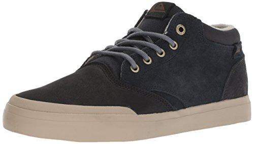 (Quiksilver Men's VERANT MID Deluxe Skate Shoe, Grey, 12 M US)