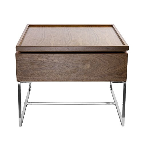 Lift-Top End Table Coffee Table with Hidden Storage with stainless Steel for Living Room Bedroom
