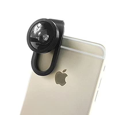 FEER New Universal 4-IN-1 Mobile Phone Camera Clip Lens, Special Effects Shots, Macro + 180 Degree Supreme Fish Eye + 0.67X Wide Angle + 0.4X Wide Lens, With A Clamp and A Free Flannelette Bag