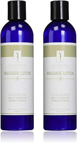Master Massage Spamaster Essentials Unscented Massage Lotion Pack 8 Oz, 2 pack